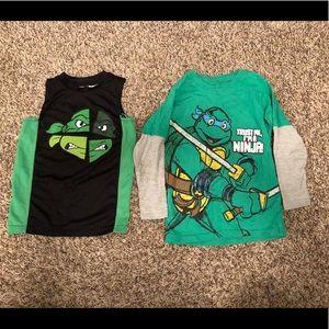 Ninja turtle Nickelodeon boys lot size XS and 5T